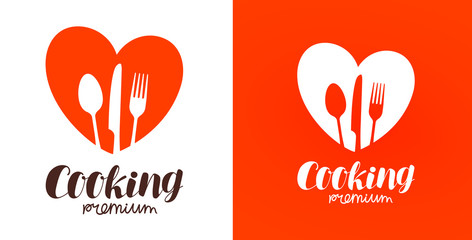 Cooking, cuisine, cookery logo. Restaurant, menu, cafe, diner icon or label. Vector illustration
