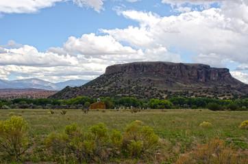 Church and Graveyard at San Ildefonso Pueblo