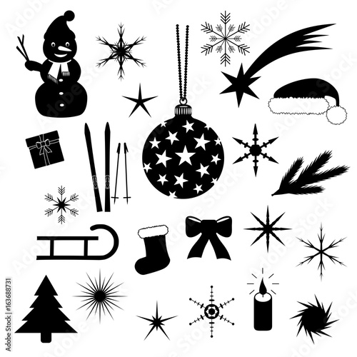 weihnachten silhouetten symbole schwarz stockfotos und lizenzfreie vektoren auf. Black Bedroom Furniture Sets. Home Design Ideas