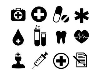 Collection of medical icons. first aid. vector illustration eps