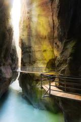 Aareschlucht bei Meiringen im Haslital, Schweiz