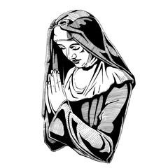 Nun is praying