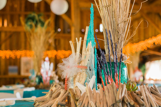 Beach Themed Ocean Wedding Reception Decorations