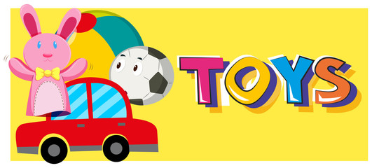 Word toys and different types of toys