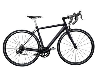 black road bike isolated on white background  isolated