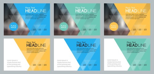 set template design for social media and web  banners background, with use in presentation,brochure,book cover layout,flyers Wall mural