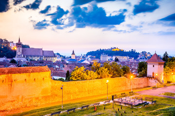 Fototapete - Brasov, Romania, Transylvania - Medieval downtown