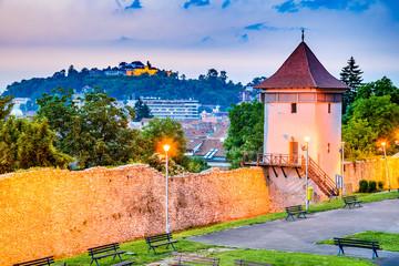 Fotomurales - Brasov, Romania - Medieval city in Transylvania