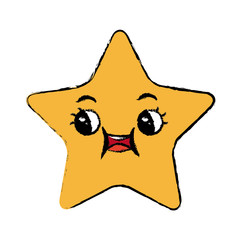 kawaii star cartoon cute facial expression