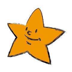 cartoon star smile light night icon