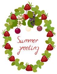 Postcard summer berries