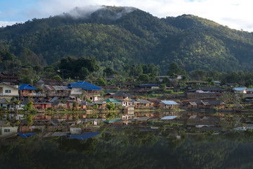 RukThai village at morning time / RukThai village, the classic place where the tourism go in winter season