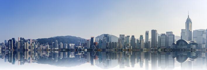 Panorama view of Victoria Harbor : Hong Kong