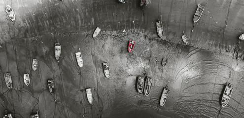 Aerial view of Peng Chau Island, Hong Kong