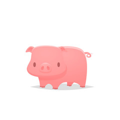 Pig vector isolated illustration