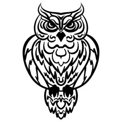 Owl Tribal pattern Vector illustration