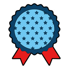 Award ribbon blank icon vector illustration graphic design