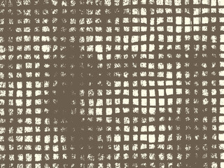 Abstract grunge vector background. Monochrome grid composition of irregular