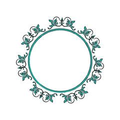floral frame border decorative design element and fancy ornament