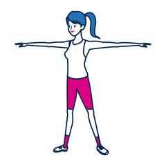 sport woman character people fitness
