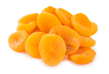 Apricots (dried) (isolated on white)