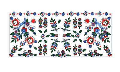 Decorative frame ottoman pattern drawn in the old style pattern