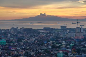 sunset in metro manila , philippines