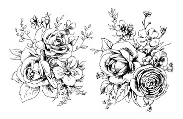2 graphic bouquets