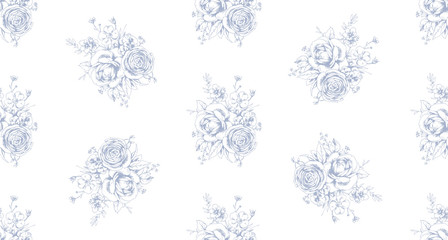 Graphic floral seamless pattern 1