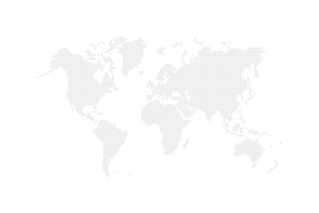 Background Backdrop World Map Create from Square Dots. Vector illustration.