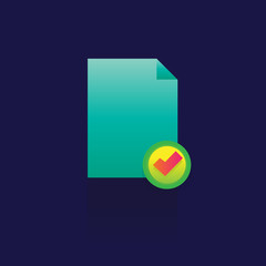 Different documents icons set with rounded corners. Design elements. on blue bacjground. logo. symbol