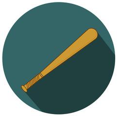 Baseball Bat. Illustration Isolated on white vector eps 10