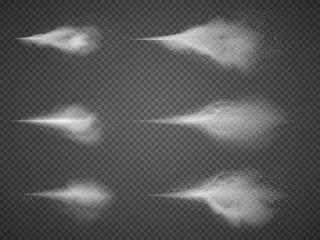 Deodorant atomizer fog vector set. Water aerosol spray mist isolated Wall mural