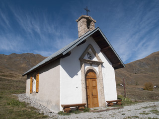 a little village Church standing high in the mountains