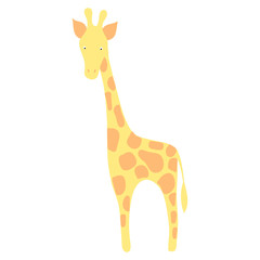 Cute giraffe.   Vector illustration
