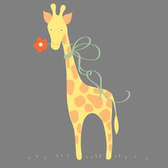 Cute giraffe.   Vector illustration
