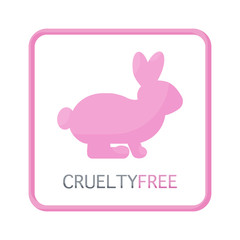 Cruelty free vector flat icon,