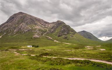 The Aonach Eagach Ridge, Scottish Highlands