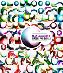 Mega collection of 100 vector swirl abstract backgrounds