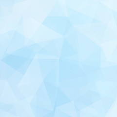 Background made of pastel blue triangles. Square composition with geometric shapes. Eps 10
