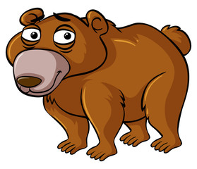Bear with sad face