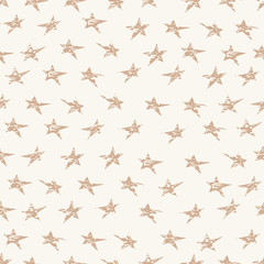 Cracked grunge stars seamless pattern. Textile or wrapping paper.