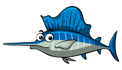 Swordfish with happy face