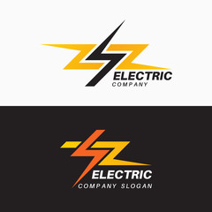 Set of templates of electric logos