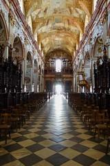 VELEHRAD, CZECH REPUBLIC - JULY 3, 2017. Basilica of Saint Cyrillus and Methodius in Velehrad village, Moravia, Czech republic.