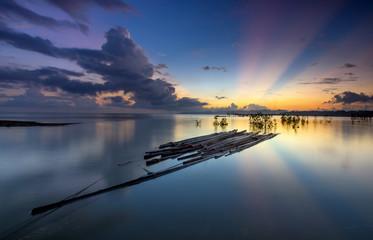 sunrise at buntal beach,kuching on 4 march 2017