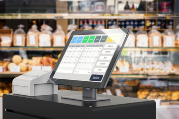 point of sale system for store management Wall mural