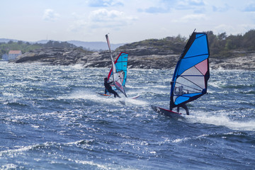Windsurfer in Norwegen