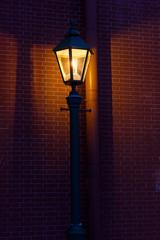 Street light/ Street lamp on a brick wall background