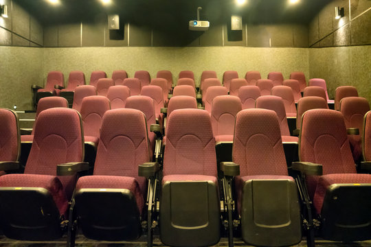 Empty seats in the movie theater